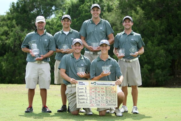 Greensboro College poses after winning the Golfweek Division III Fall Invitational at Southern Dunes.