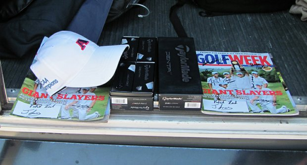 Augusta State gift to President Obama included signed copies of Golfweek.