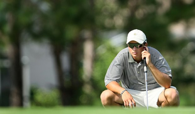 Methodist sophomore Mike Wesko during the final round of Golfweek's Division III Fall Invitational.