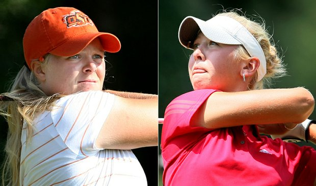 Caroline Hedwall (left) and Jessica Korda