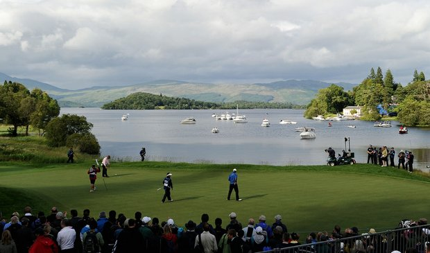 The 17th green at Loch Lomond during the 2010 Barclays Scottish Open.