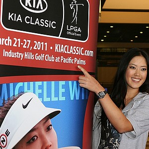 Michelle Wie was on hand for the announcement that Kia Motors would title sponsor the Kia Classic for the next two years at Industry Hills Golf Club.
