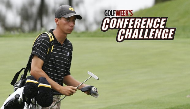 Vince India of Iowa during the second round of the Golfweek Conference Challenge.
