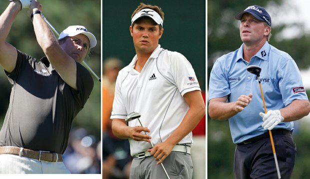 Phil Mickelson, Jeff Overton and Steve Stricker