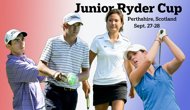From left, Anthony Paolucci, Jordan Spieth, Kristen Park and Emma Talley will lead Team USA at the Junior Ryder Cup.