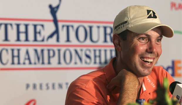 Matt Kuchar during a press conference at the Tour Championship.