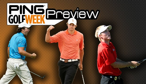 From left, Augusta State's Patrick Reed, Oklahoma State's Peter Uihlein and Georgia's Russell Henley highlight the field at this year's Ping/Golfweek Preview.