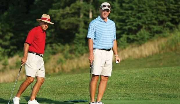 There's plenty of football brainpower when Arizona Cardinals coach Ken Whisenhunt joins Saban for golf.