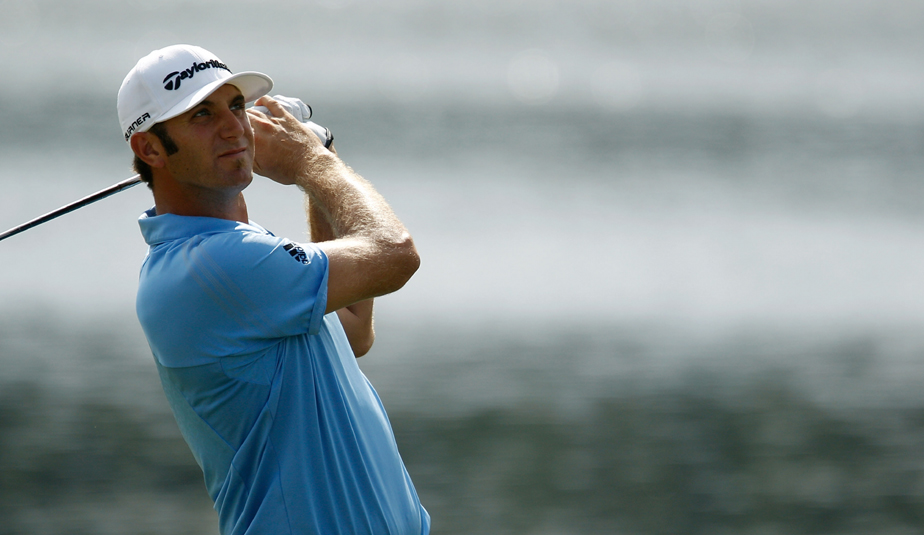Dustin Johnson during Round 2 of the Tour Championship.