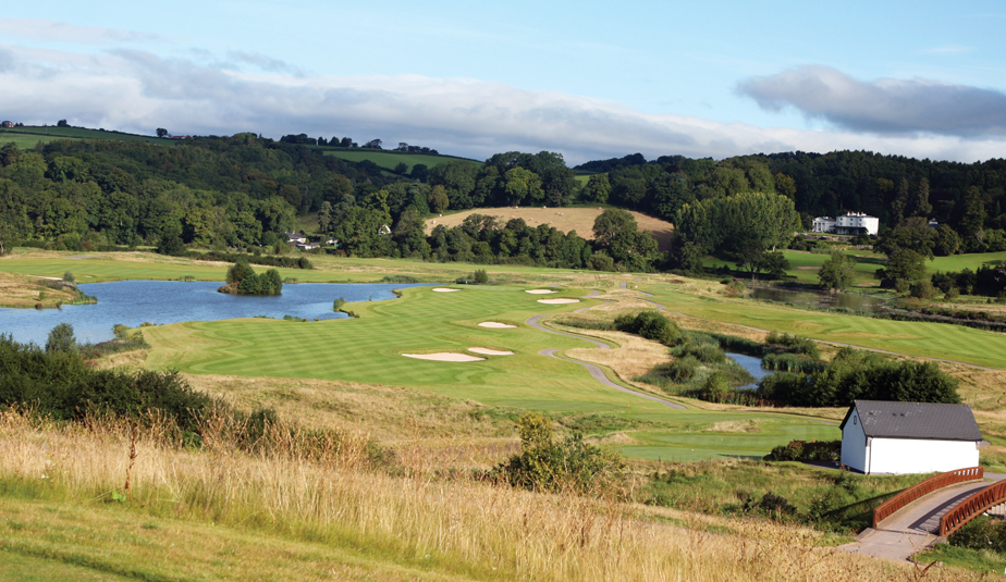 The par-5 11th hole at Celtic Manor's Twenty Ten Course in Wales.