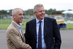 Ryder Cup captains Corey Pavin and Colin Montgomerie
