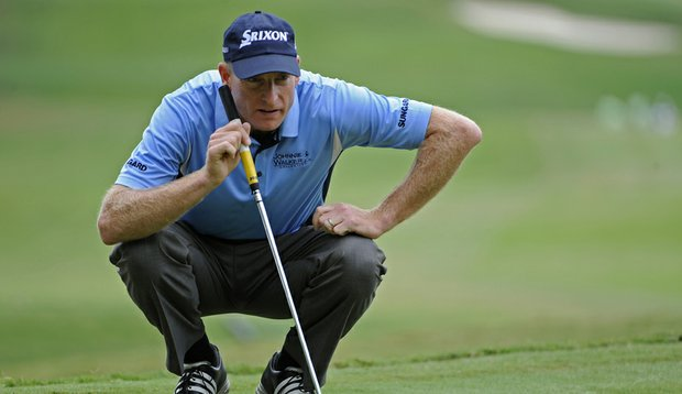Jim Furyk during the final round of the Tour Championship.