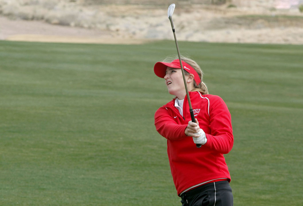 Therese Koelbaek of UNLV leads the Golfweek Women's Conference Challenge by three shots through Round 2.