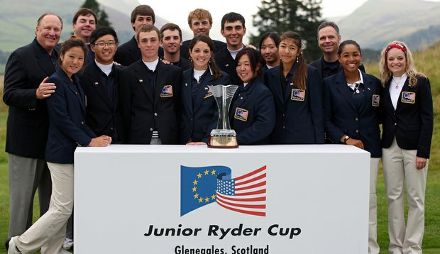 The United States team after winning the 2010 Junior Ryder Cup.