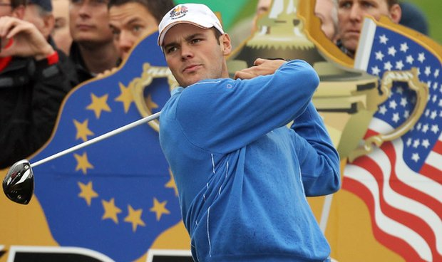 Martin Kaymer of Germany practices at Celtic Manor, Wales, prior to the start of the 38th Ryder Cup.