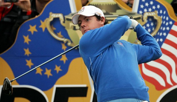 Rory McIlroy during a practice round at the Ryder Cup.