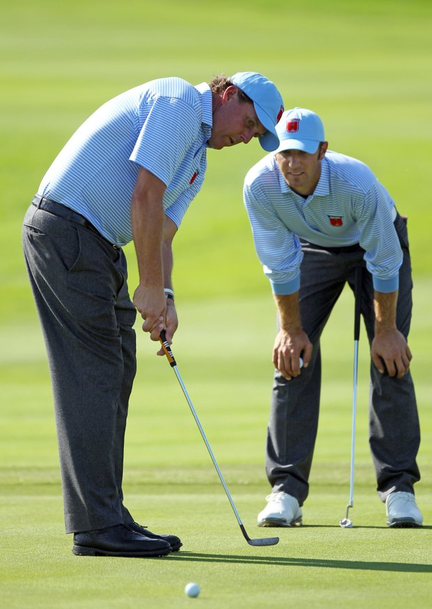 Phil Mickelson (left) and Dustin Johnson
