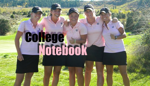 Missouri State after the final round of the Golfweek Women's Conference Challenge. From left, Emma Clegg, Catherine Dolan, Hermine Greyling, Rikke Falsner and Kelsey Welber.
