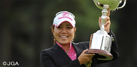 Mika Miyazato completed a wire-to-wire win at the 2010 Japan Women's Open.