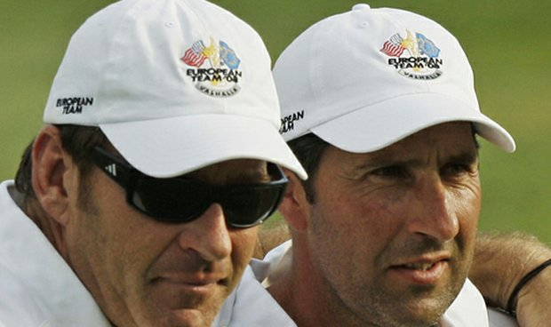 Nick Faldo and Jose Maria Olazabal, who is the odds-on favorite to be Europe's next Ryder Cup captain.