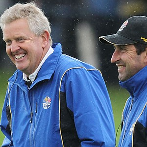 Colin Montgomerie (left) and Jose Maria Olazabal during the Ryder Cup.