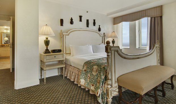 A room at the Fairmont Le Manoir Richelieu.