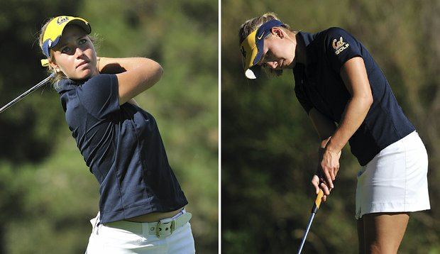 Pia Halbig, left, and Emily Childs, right, led California to the title at the Edean Ihlanfeldt Invitational.