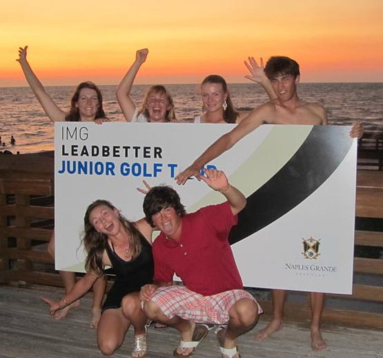 A beach party at the IMG Leadbetter Junior Golf Tour event in Naples, Fla.