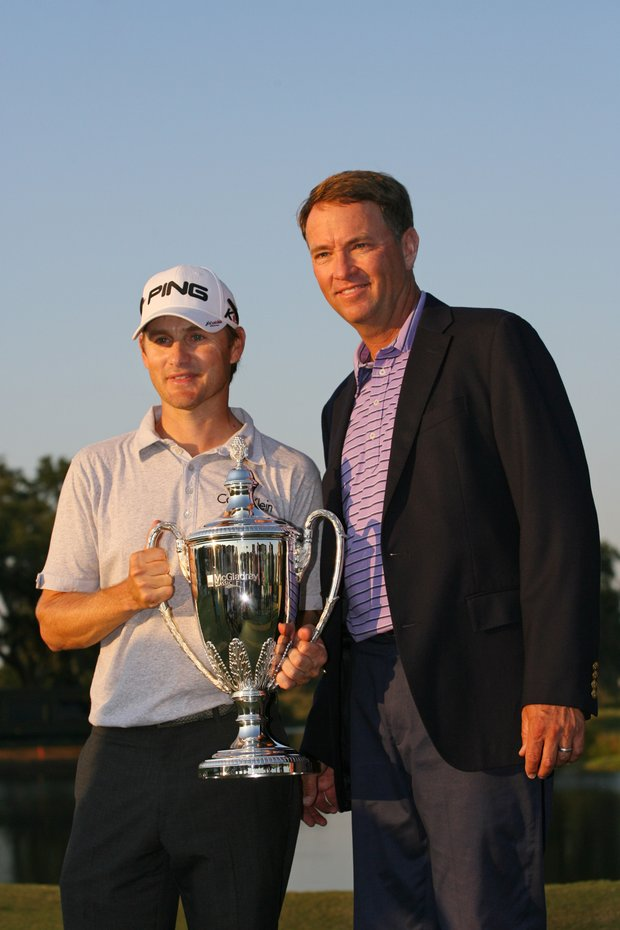 McGladrey Classic winner Heath Slocum and Davis Love III