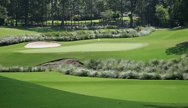 The 11th hole at The Brickyard at Riverside course