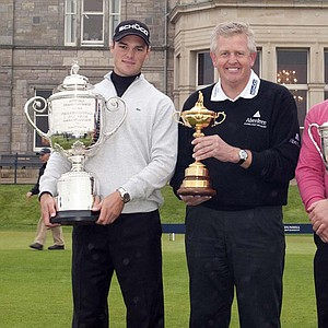 PGA champ Martin Kaymer, Colin Montgomerie and U.S. Open winner Graeme McDowell