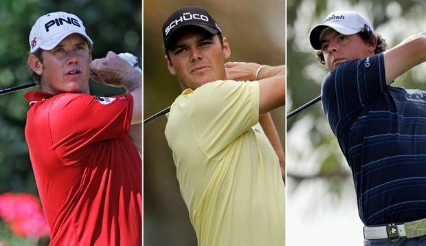 Lee Westwood, Martin Kaymer and Rory McIlroy