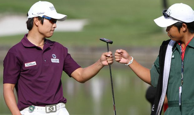 Kim Kyung-tae of South Korea charged to victory in the 2010 Japan Open.
