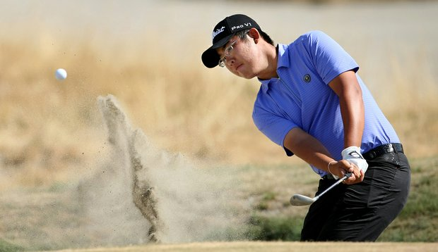 Cal freshman Byeong-Hun An during the 2010 U.S. Amateur at Chambers Bay.