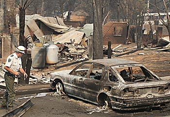 A February 2009 bushfire destroyed the town of Marysville, along with the golf course.