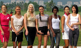 Miss World contestants get some coaching in China.