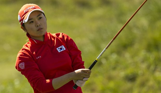 Ji-Hee Kim during the third round of the Women's World Amateur Team Championship.