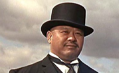 We wonder what Oddjob's handicap is -- now that golf has matured in South Korea.