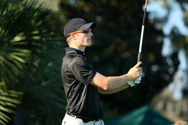 Oklahoma State University's Morgan Hoffmann on Sunday during Round 1.