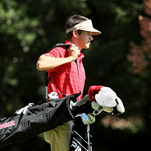 Cory Whitsett of University of Alabama on Sunday at No. 8 tee.