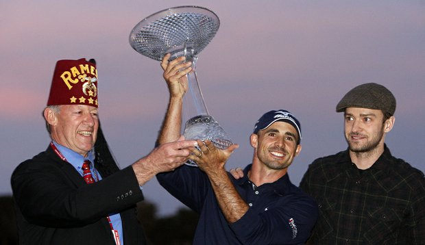 Jonathan Byrd after winning the Justin Timberlake Shriners Hospital for Children Open on Oct. 24.