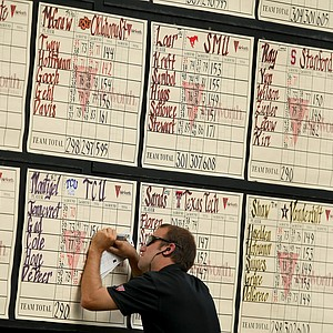 The scoreboard at the Isleworth Collegiate.