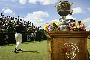 Ernie Els hits from the first tee box during the final round of the 2010 World Golf Championships-CA Championship at Doral Golf Resort.