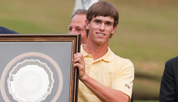 James White after winning the individual title at the U.S. Collegiate.