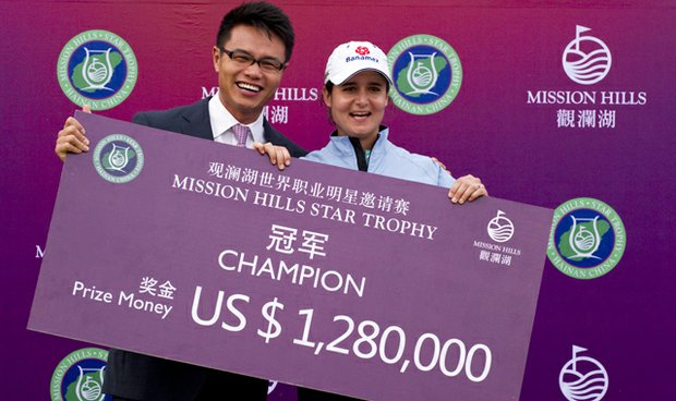 Retired LPGA star Lorena Ochoa of Mexico won the 2010 Mission Hills Star Trophy in Haikou, China -- and a lot of money.