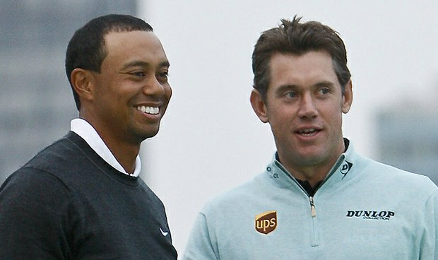 World No. 2 Tiger Woods and No. 1 Lee Westwood appear in Shanghai prior to the 2010 HSBC Champions.