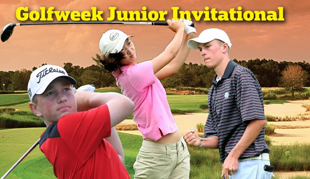 Brad Dalke, left, Doris Chen, center, and Nicholas Reach highlight the field at this year's Golfweek Junior Invitational at Reunion Resort in Orlando, Fla.