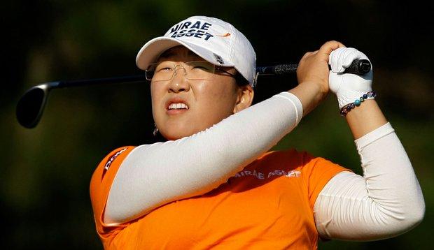 Jiyai Shin during the second round of the Mizuno Classic.