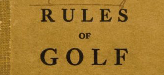 What's golf without the rules?