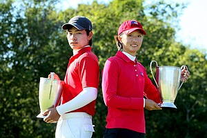 Sam Chun and Doris Chen winners of the Golfweek East Coast Junior Invitational.